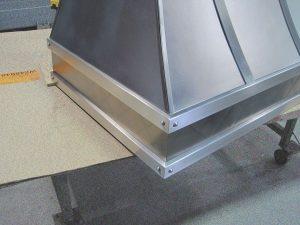 Silver Star Metal Fabricating Inc. - Exhaust Hood Corner Zoom