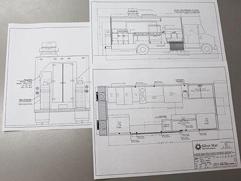 Silver Star Metal Fabricating Inc. - Food Truck Drawings
