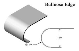 Silver Star Metal Fabricating Inc. - Stainless Steel Countertop Bullnose Edge