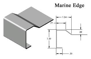 Silver Star Metal Fabricating Inc. - Stainless Steel Countertop Marine Edge