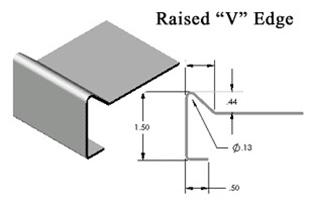 Silver Star Metal Fabricating Inc. - Stainless Steel Countertop Raised V Edge