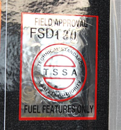 Silver Star Metal Fabricating Inc. - TSSA Field Approval Sticker
