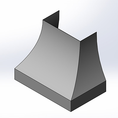 Silver Star Metal Fabricating Inc. - Bell Curve Range Hood