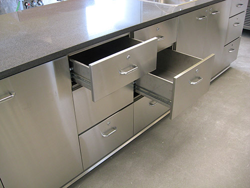 Silver Star Metal Fabricating Inc. - Stainless Steel Base Cabinet With Drawers