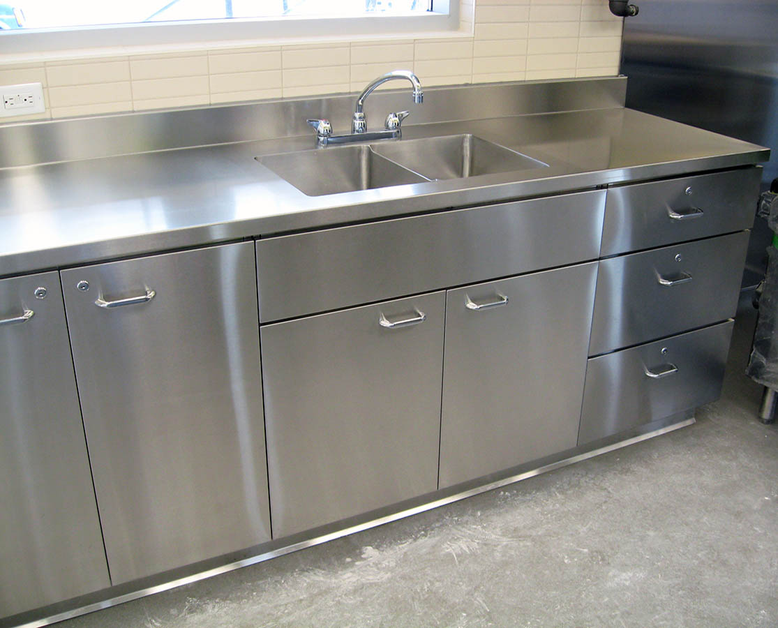 Silver Star Metal Fabricating Inc. – Stainless Steel Base Cabinet With Sink & Drawers
