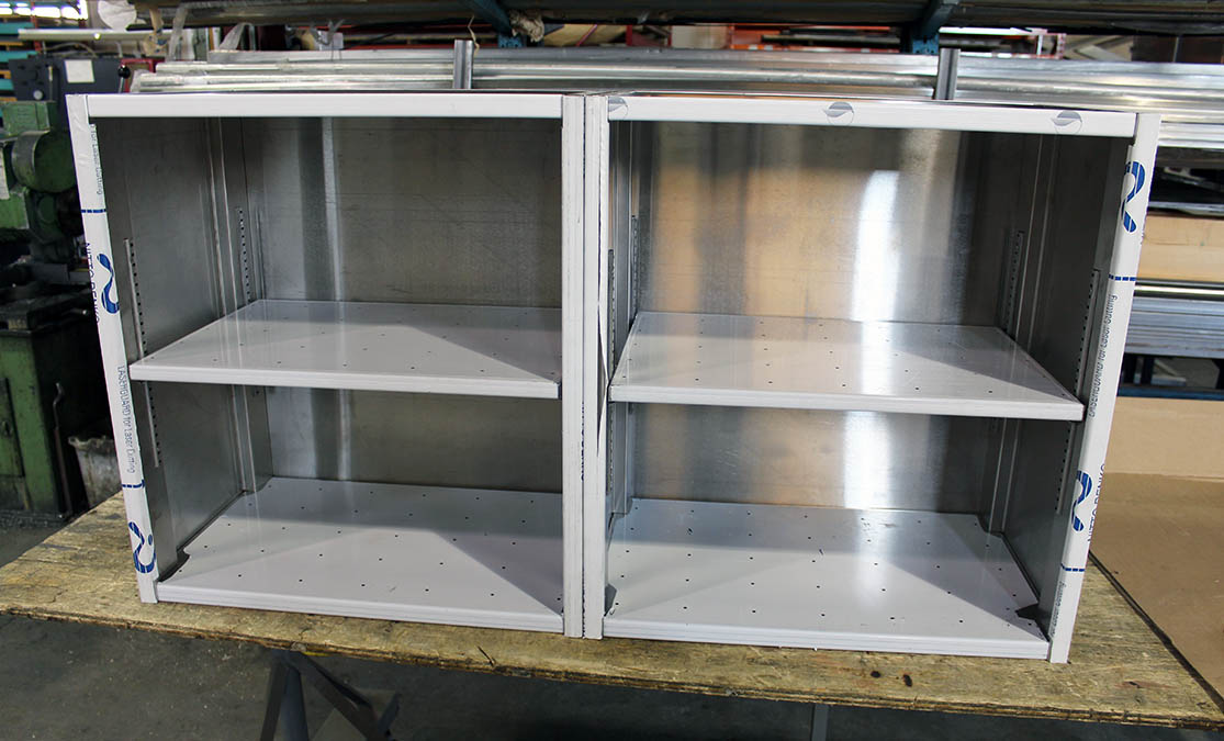Silver Star Metal Fabricating Inc. – Stainless Steel Open Cabinet Perforated Adjustable Shelves