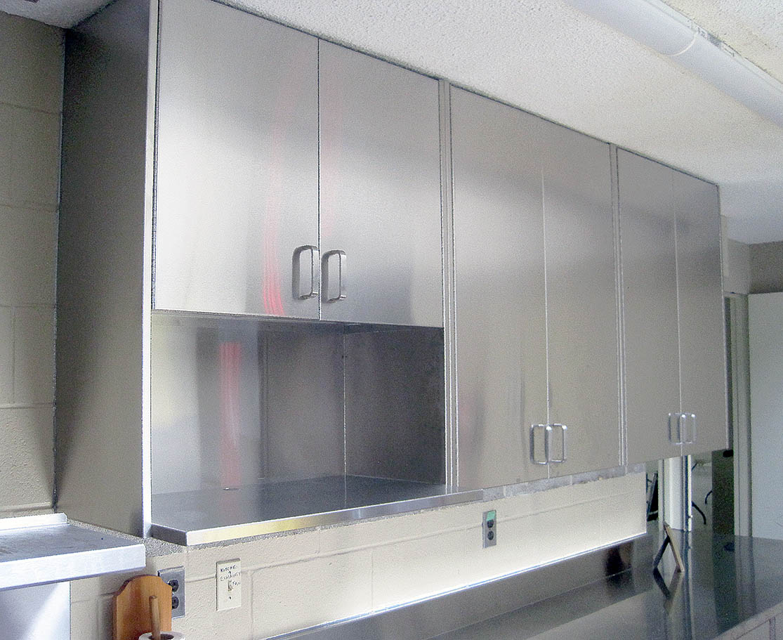 Silver Star Metal Fabricating Inc. – Stainless Steel Upper Cabinet With Microwave Oven Shelf