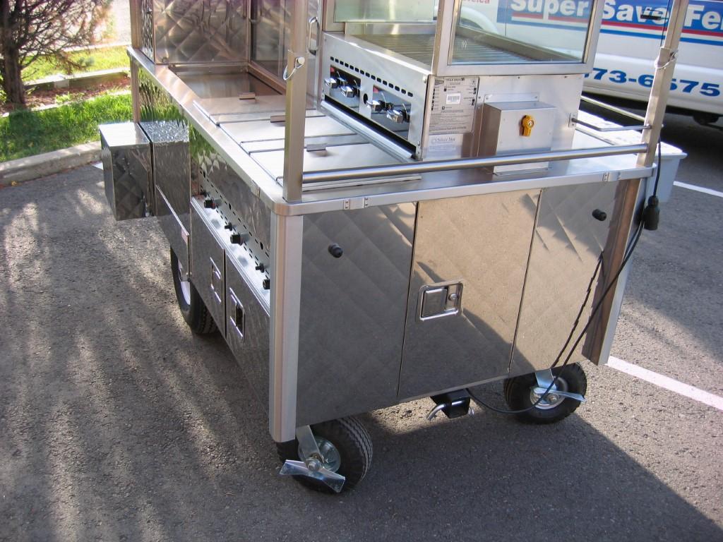 G500 Hot Dog Vending Cart Silver Star Metal Fabricating